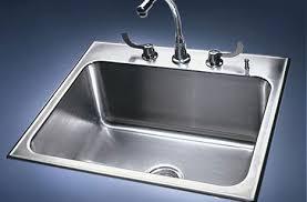 drop in sink stainless steel single bowl by just sinks