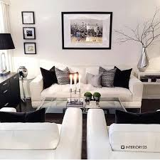 Living Room Best Black And White Design
