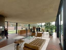 100 Glass House Architecture Philip Johnsons Replaces Its Ceiling Curbed