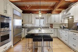 100 Cieling Beams Kitchen In Luxury Home With Wood Ceiling Beams