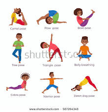 Cute Cartoon Gymnastics For Children And Healthy Lifestyle Sport Illustration Vector Concept Happy African Kids