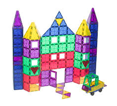 Magna Tiles 100 Piece Target by Amazon U2013 Playmags 100 Piece Clear Colors Magnetic Tiles