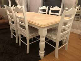 100 Oak Table 6 Chairs Ft Shabby Chic And In Mansfield