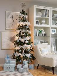 Snow Flocked Slim Christmas Tree by Stunning Slim Christmas Tree Decorating Ideas Christmas Celebrations