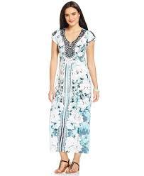 style u0026 co petite dreamcatcher maxi dress in blue lyst