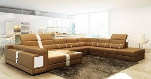 luxus wohnlandschaft ecksofa sofa polster leder sitz u form wohnzimmer neu
