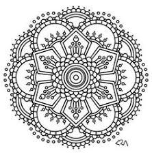 Coloring Page Mandala Instant PDF Download Printable