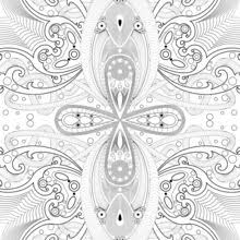 Rosette Intricate Patterns Arabesque Coloring Page