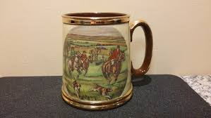 Daher Decorated Ware History by Gibsons Staffordshire England Fox Hunting Tankard By Nonasfinds On