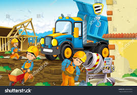 100 Heavy Truck Games Royalty Free Stock Illustration Of Cartoon Scene Construction Site