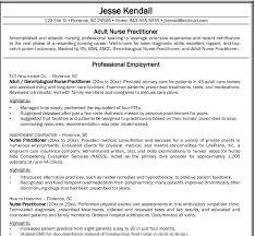 How To Write A Nurse Resume Advanced Nursing Degree Sample