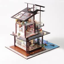 Features Details About Diy Wooden Kids Dolls House Room Miniature