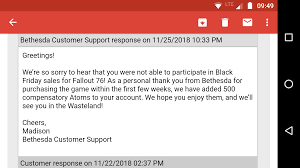 You Can Claim 500 Atoms If You Bought Game For 60$. : Fo76 Fallout 76 Trictennial Edition Bhesdanet Key Europe This Week In Games Bethesda Ships 76s Canvas Bags Review Almost Hell West Virginia Pcworld Like New Disc Rare Stolen From Redbox Edition Youtubers Beware Targets Creators Posting And Heres For 50 Kotaku Australia Buy Fallout Closed Beta Access Pc Cd Key Compare Prices 4 Ps4 Walmart You Can Claim 500 Atoms If You Bought Game For 60 Fo76 Details About Xbox One Backlash Could Lead To Classaction Lawsuit