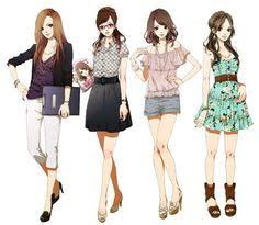 Inspiration Modern Outfits For Girls Women Manga Art Anime Drawing Clothes
