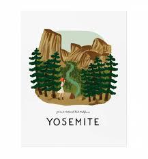 Yosemite Illustrated Art Print