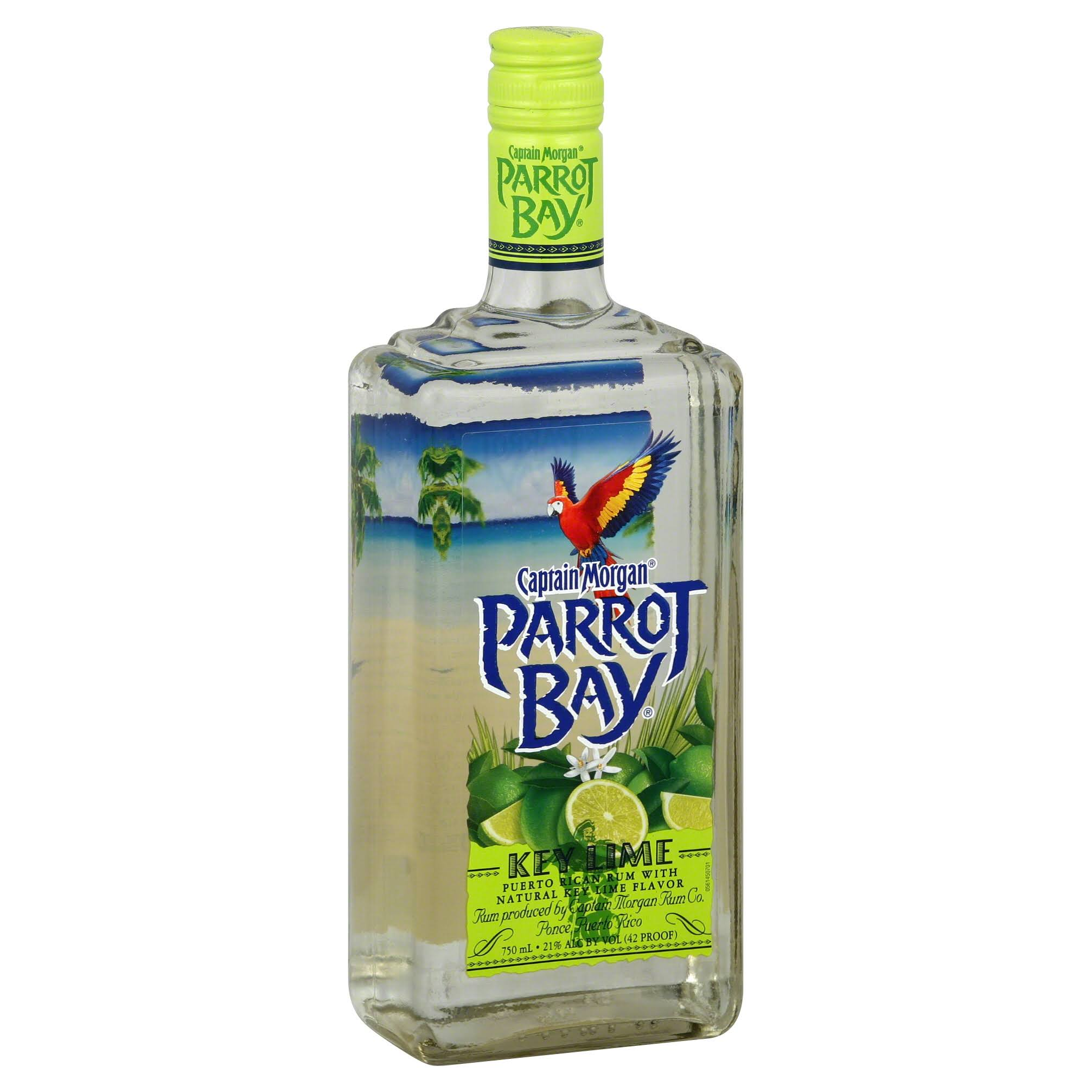 Captain Morgan's Parrot Bay Rum - Key Lime, 750ml