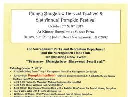 Roger Williams Pumpkin Festival 2017 by Oct 7 Kinney Bungalow Harvest Festival U0026 21st Annual Pumpkin