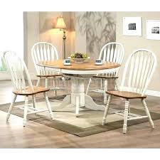 White Country Style Dining Table Oak Room Sets Inspiring Antique Set Round For Sal