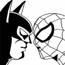 Batman And Spiderman Face To