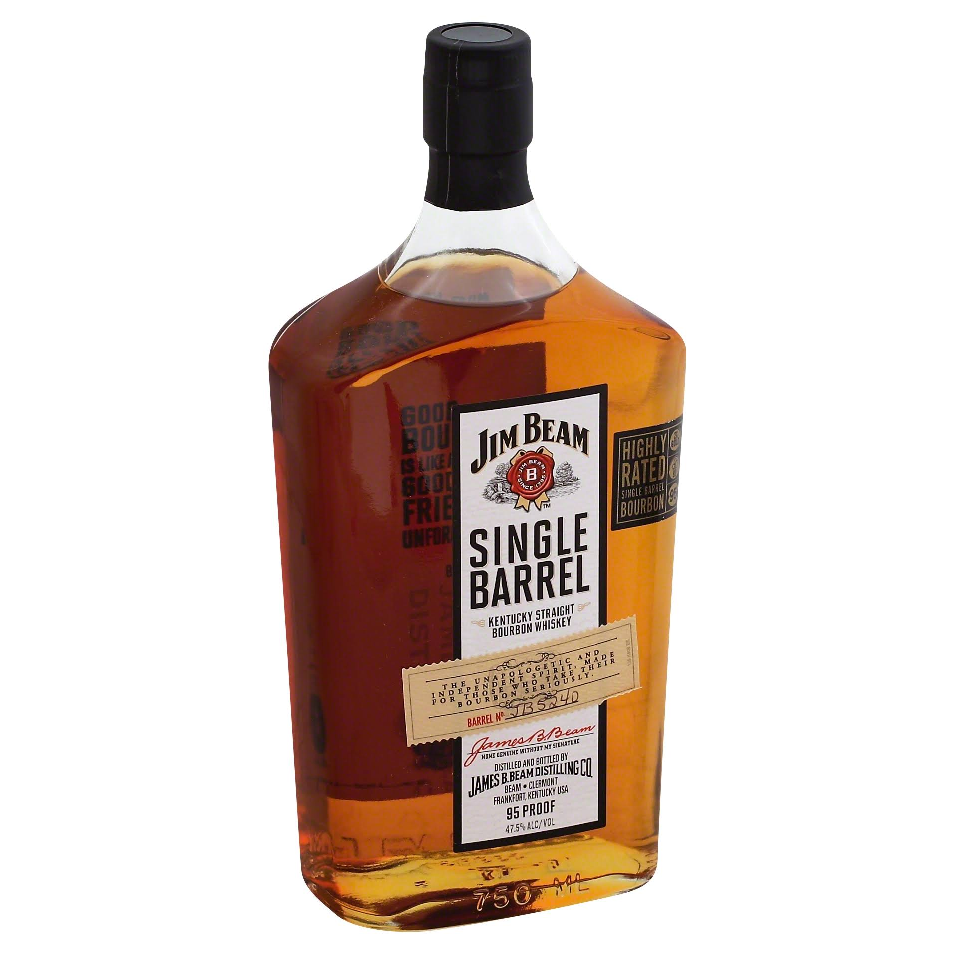 Jim Beam  Single Barrel  Bourbon - 750 ml bottle