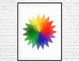 Nursery Print Color Wheel Children Or Kids Room Art Fine Giclee Modern
