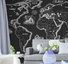 weltkarte fototapete schwarz weiß weltkarte kontinente tapete