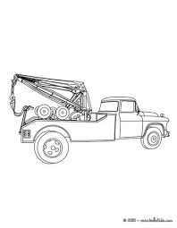 Tractor Trailer Tow Truck Coloring Page