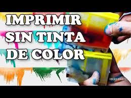 Como Imprimir Sin Tinta De Color How To Print Without Ink Tutorial Truco