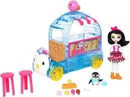 Enchantimals Preena Penguin Doll And Ice Cream Truck - Toys