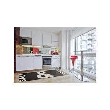 küchenläufer kitchen schwarz weiß