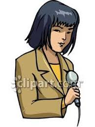 Clipart Picture Of A Female Reporter Rh Clipartguide Com