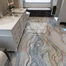 pvc selbstklebende wasserdichte tapete 3d marmor bodenfliesen wandbilder badezimmer rutschfeste tapete 3d bodenbelag home decor aufkleber 300 210cm