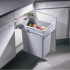 poubelle de cuisine coulissante monobac poubelle coulissante robuste 1 bac 40 litres accessoires de cuisines