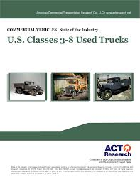 100 Used Class 8 Trucks ACT Research Preliminary Volumes Continue WaveLike