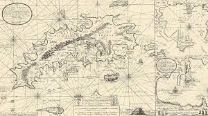 The Danish West Indies Map Of St Thomas And Jan 1700s