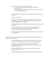 Resume Samples For Nursing Students Format Freshers