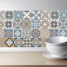 arabisch retro fliesen aufkleber für küche bad pvc selbst klebe wand aufkleber wohnzimmer diy decor tapete wasserdicht