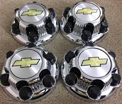 REPLACEMENT PART: Set Of 4 Chrome Chevy Silverado 6 Lug 1500 Center ...