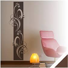 exklusivpro wandtattoo wandbanner ornament ranke wohnzimmer schlafzimmer bordüre ban38 braun 180 x 58 cm mit farb u größenauswahl
