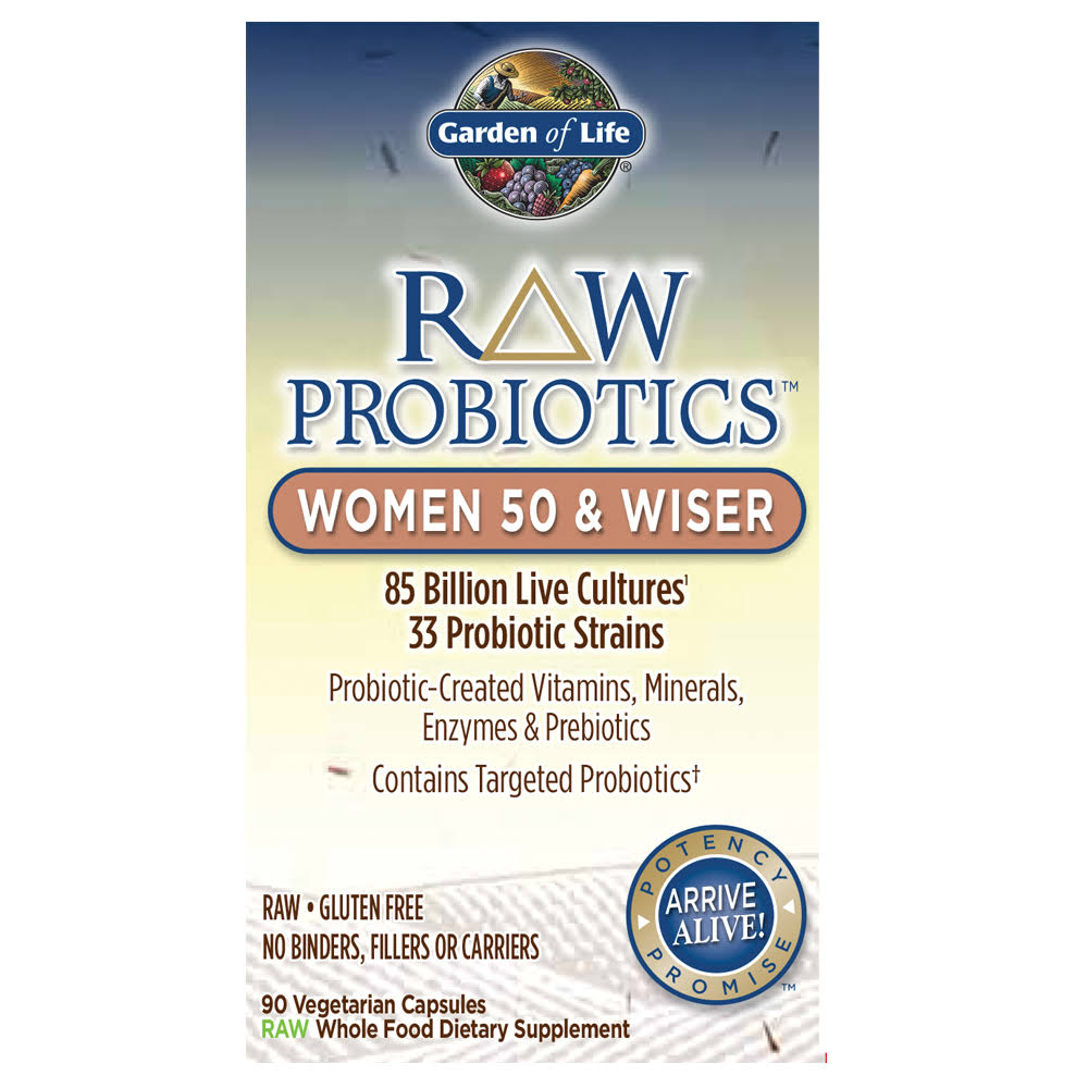 Garden of Life Raw Probiotics Women 50 & Wiser Dietary Supplement - 90 Capsules