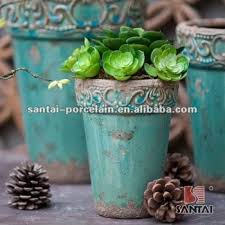 2017 Wholesale Ceramic Plant Pots Shabby Chic MK37 Flower ChaoZhou