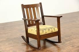 Arts & Crafts Mission Oak Rocking Chair, Antique Craftsman Rocker, Lifetime
