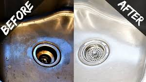 Unclogging A Kitchen Sink With Vinegar by How To Clean Kitchen Sink Home And Interior