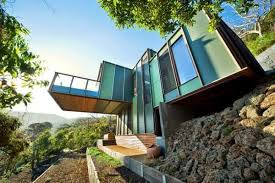 Steep Slope House Plans Pictures by Modular House Design Perched On A Steep Slope Overlooking