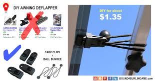 Cut Down On Your Camping Cost. DIY Awning De-flappers.<3 Click ... Australian Rv Accsories Whats New Awning Walls Wwwadpcaravanscomau Basics Secure The Better Flagstaff Classic Super Lite Bhok Amazoncom Rv Def Windows Define Casement Oxford Diy Protector Under 20 Youtube Camco 42013 Power Hook Tensioner Automotive Open Range Owners Forum View Topic Stops Slide Toppers From Max Caravan Deflappers De Flappers Deflapper 2 Tips Tricks Fabric Tightener Buddy 2pack Valterra A300 24 Pcs Clamp Set Tarp Clips