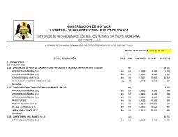 Análisis De Precio Unitario PASO De SJ