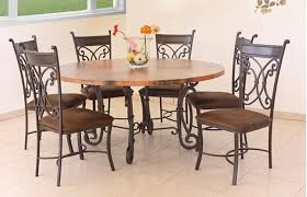 Valencia Round Copper Table Set W 6 Chairs