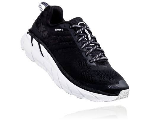 Hoka One One Women's Clifton 6 Running Shoes - Black/White Mesh, Size 11