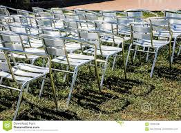 Symmetrical Rows Of Silver Folding Chairs Ready For Party Or ... White Resin Folding Chair Whosale Ivory Spandex Stretch Cover Wedding Party Chairs Childrens Special Design Hot Sale Cheap Price Outdoor Garden Fniture Folding Us 554 Ikayaa De Stock 2pcs Patio Outdoor Ding Garden Beach Camping Stool Fniture 2pcsset Chairsin Dobsons Marquee Hire Goture Fishing Max Load 150kg Super Lweight With Weddings Massage How To Start A Rental Business Foldingchairsandtablescom 5pack Plastic Banquet Seat Premium Event Black Celebration