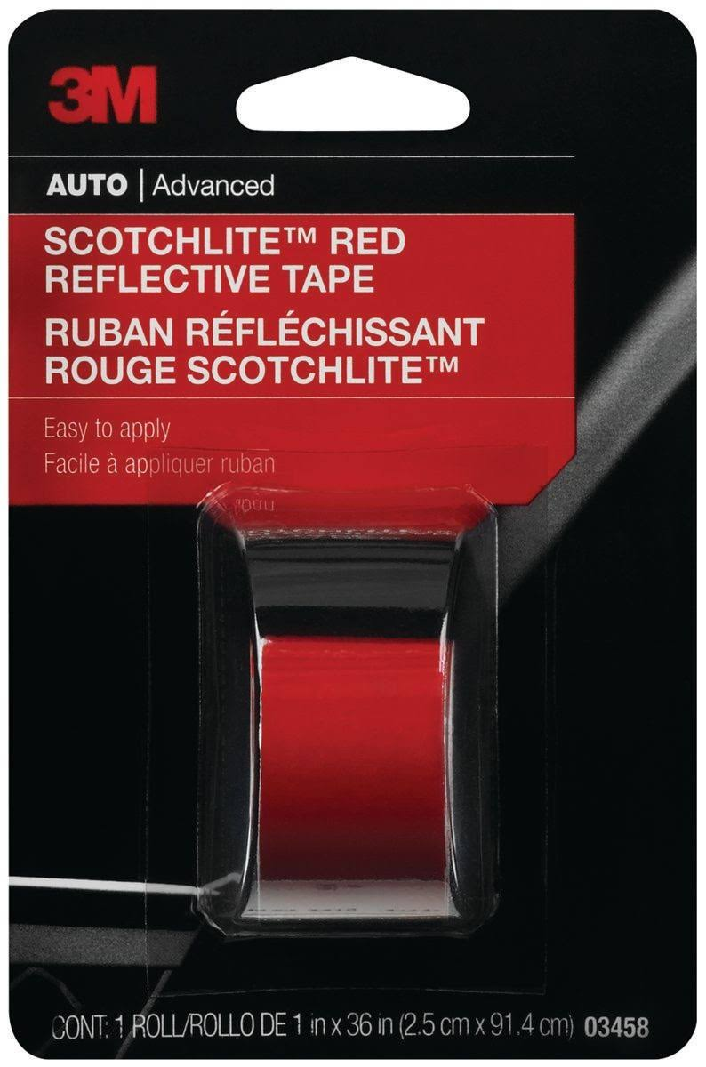 "3M Reflective Tape - Red, 1"" x 36"""